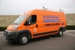 Water Damage Restoration Vehicle