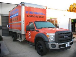 Water Restoration Vehicle At 911 Headquarters